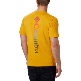 Columbia Rapid Ridge Back Graphic T-Shirt Homme, bright gold csc textured dot